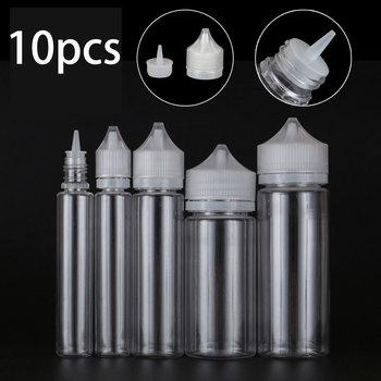 10pcs x 10/30/50/60/100/120ml Transparent Dropper Bottles Empty Plastic E Liquid Juice Oil PET Clear Containers with CRC Caps недорого