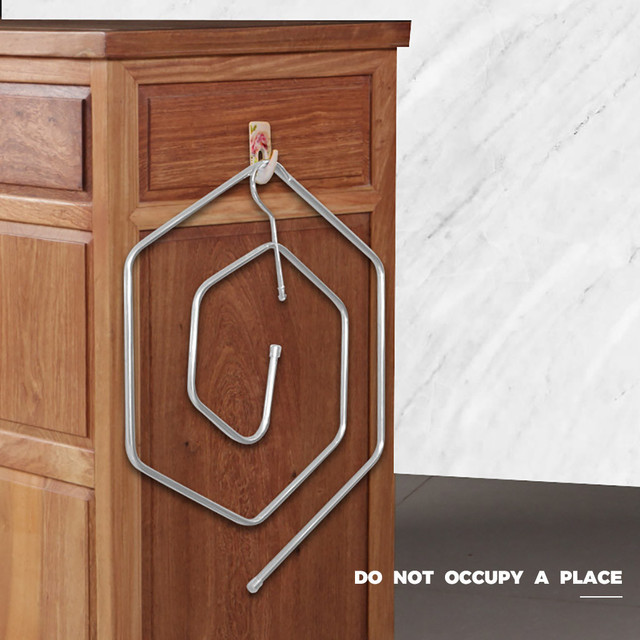 Spiral Shaped Blanket Sheet Hanger Quilt Smart Storage Solution Drain Rack Stainless Steel 1