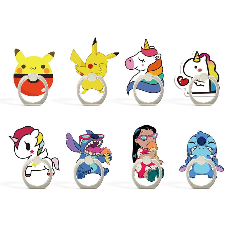 Cartoon Character Phone Holder Ring Mobile Phone Stand Cute Unicorns Finger Phone Ring Holder Support Celular For All Phone