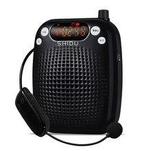 Портативный беспроводной голосовой усилитель портативный UHF мегафон с микрофонным поясом Поддержка USB AUX TF музыкальный проигрыватель мини громкоговоритель
