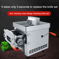 Cortadora automática de acero inoxidable para Hotel  cortadora eléctrica de carne  cortadora de alambre  picadora de carne