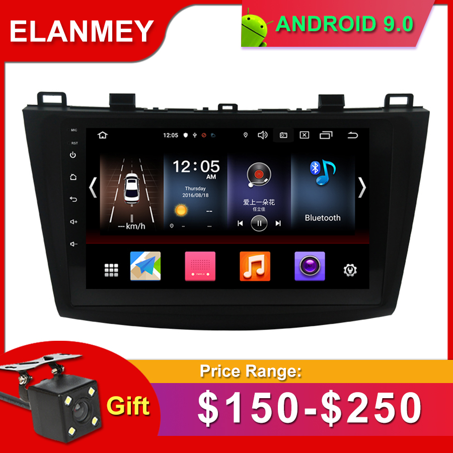 Gift Camera Car <font><b>Radio</b></font> for <font><b>MAZDA</b></font> <font><b>3</b></font> 2013-2016 Android 9.0 GPS Navigation Bluetooth Touch screen WIFI Car Audio Stere Multimedia image
