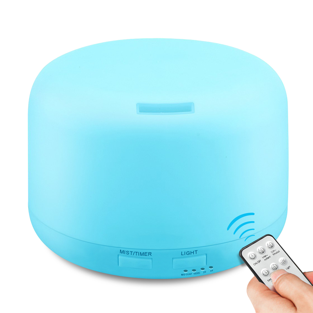 Remote Control Ultrasonic 300ML Air Humidifier Electric Aromatherapy Essential Oil Aroma Diffuser With 7 Color Lights