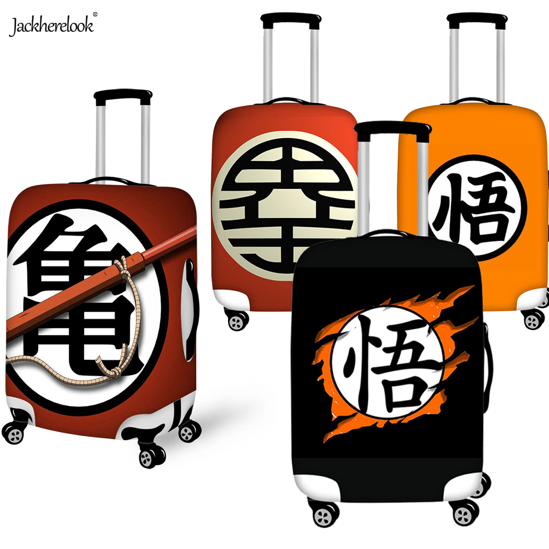 Dragon Ball Print Luggage Cover Travel On Road Baggage Suitcase Sheet Anime Design Dirty Anti Case Dustproof Travel Accessories