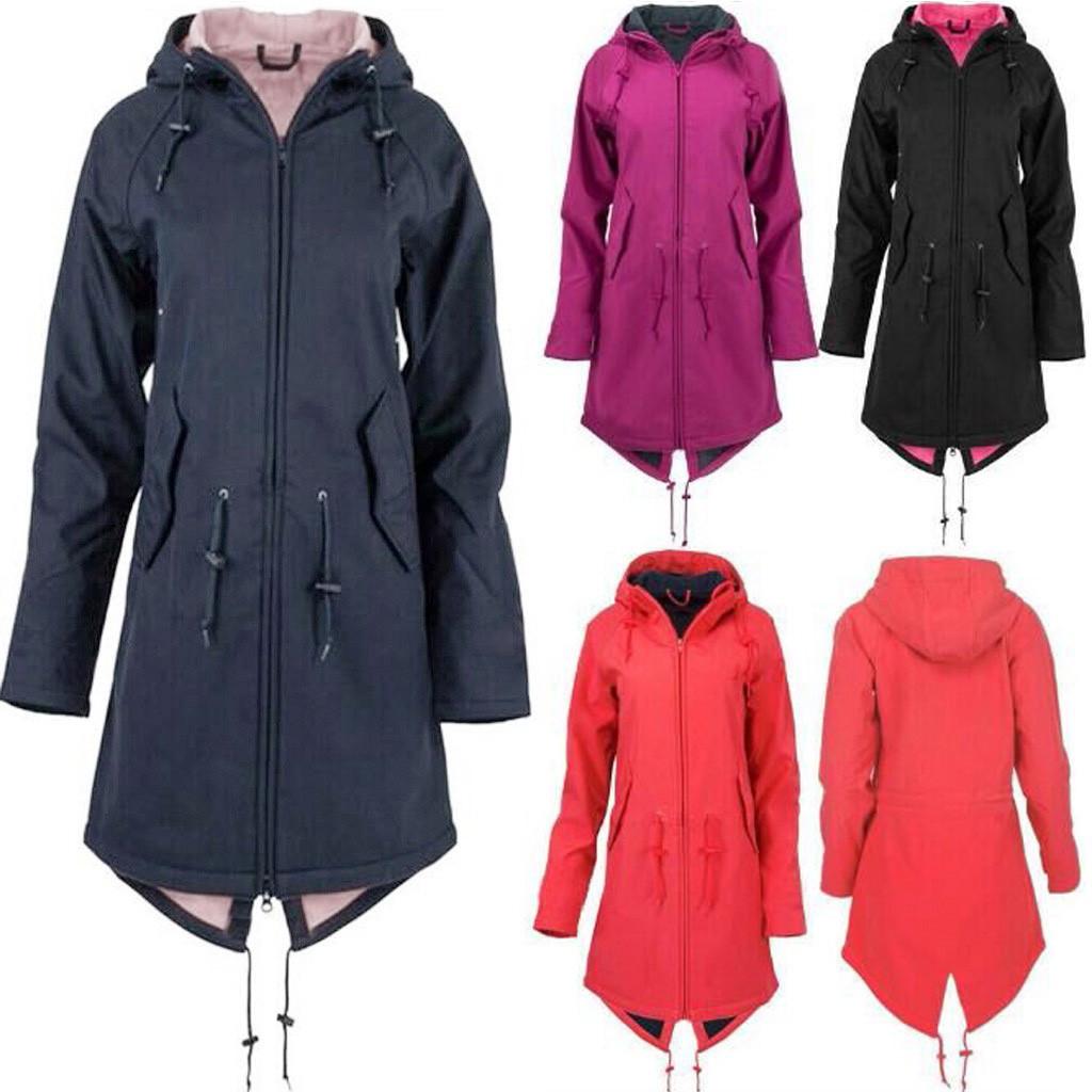 4@ Womens Raincoat Jacket Forest Jacket Raincoat Women Waterproof Rain Jackets Outdoor Long Autumn Winter Rain Coat S 5xl 2021