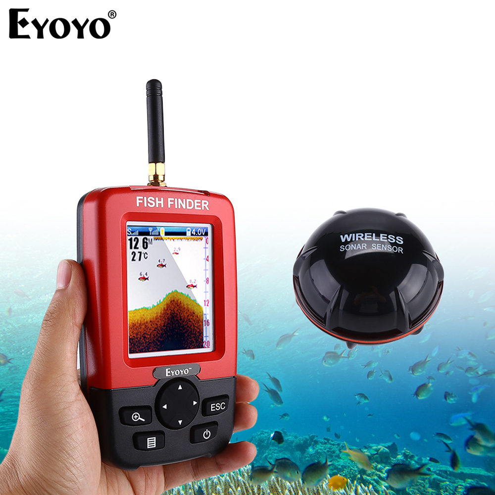 Eyoyo JX01 Smart Portable Depth Fish Finder 100M Wireless Sonar Sensor echo sounder fish radar Fishfinder for Lake Sea Fishing