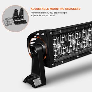 Image 5 - 5D 22 32 42 inch 2000LM Curved Led Light Bar Black Lenses Combo Beam Led Work Light For Tractor OffRoad ATV 4x4 4WD UTV SUV UAZ