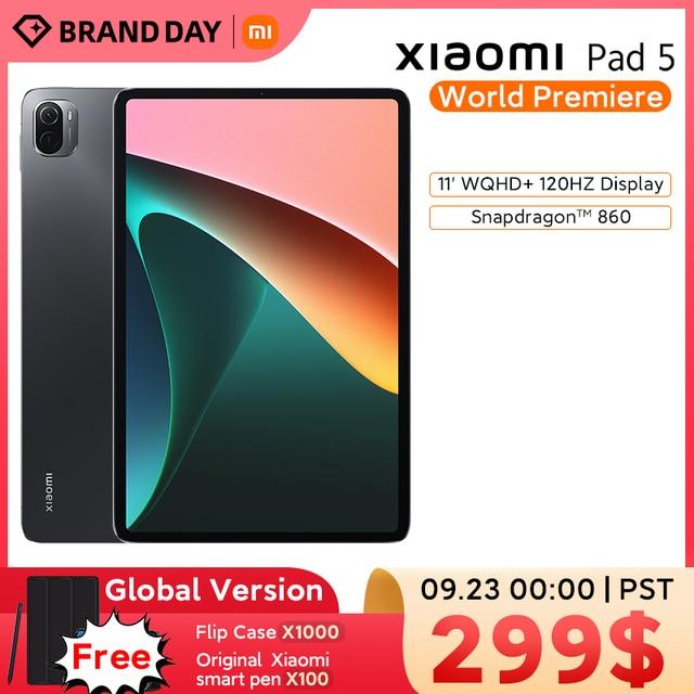 World Premiere Global Version Xiaomi Pad 5  11'' WQHD+ 120Hz Display Snapdragon 860 4 Stereo Speakers 8720mAh MI tablet 5 1