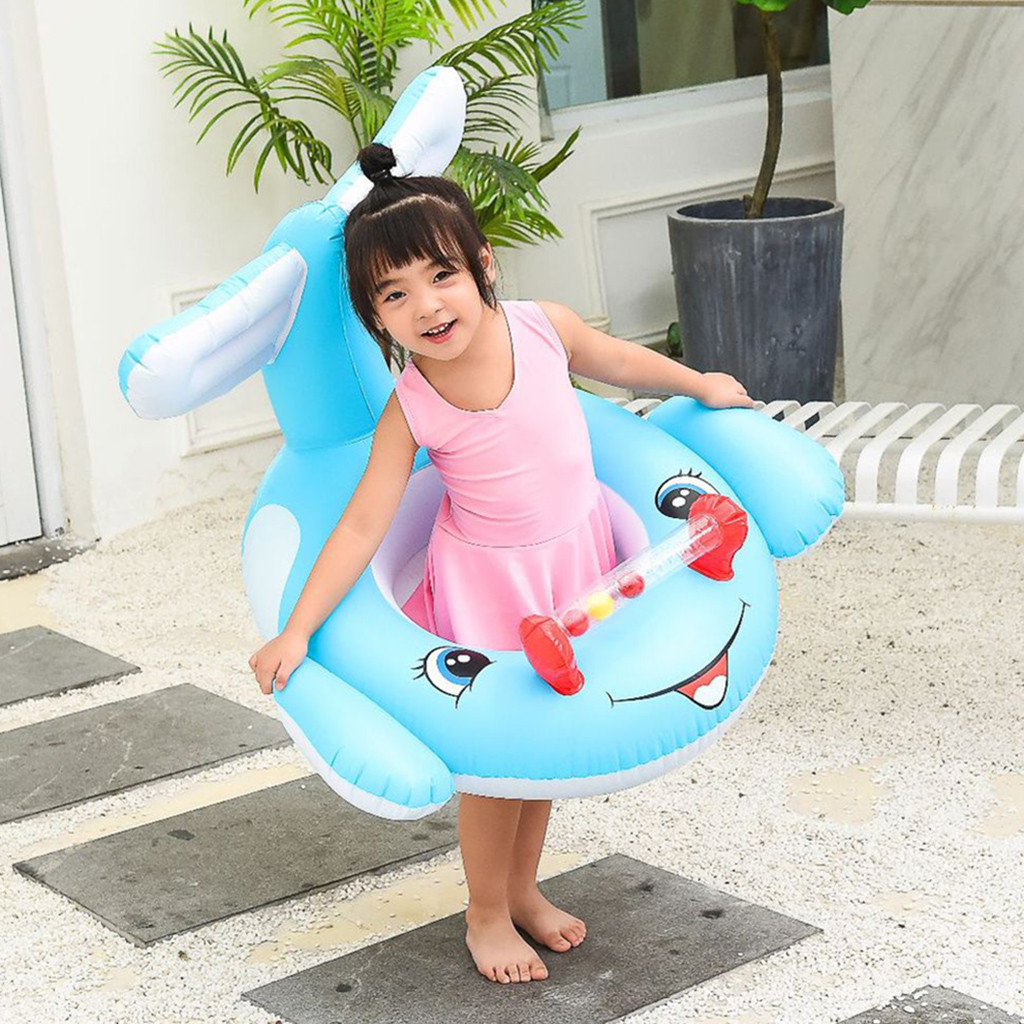 Cartoon Whale Swimming Ring for Kids Adult PVC Inflatable Swimming Ring Outdoor Pool Floats Kids Float Seat Bo-at Pool Ring