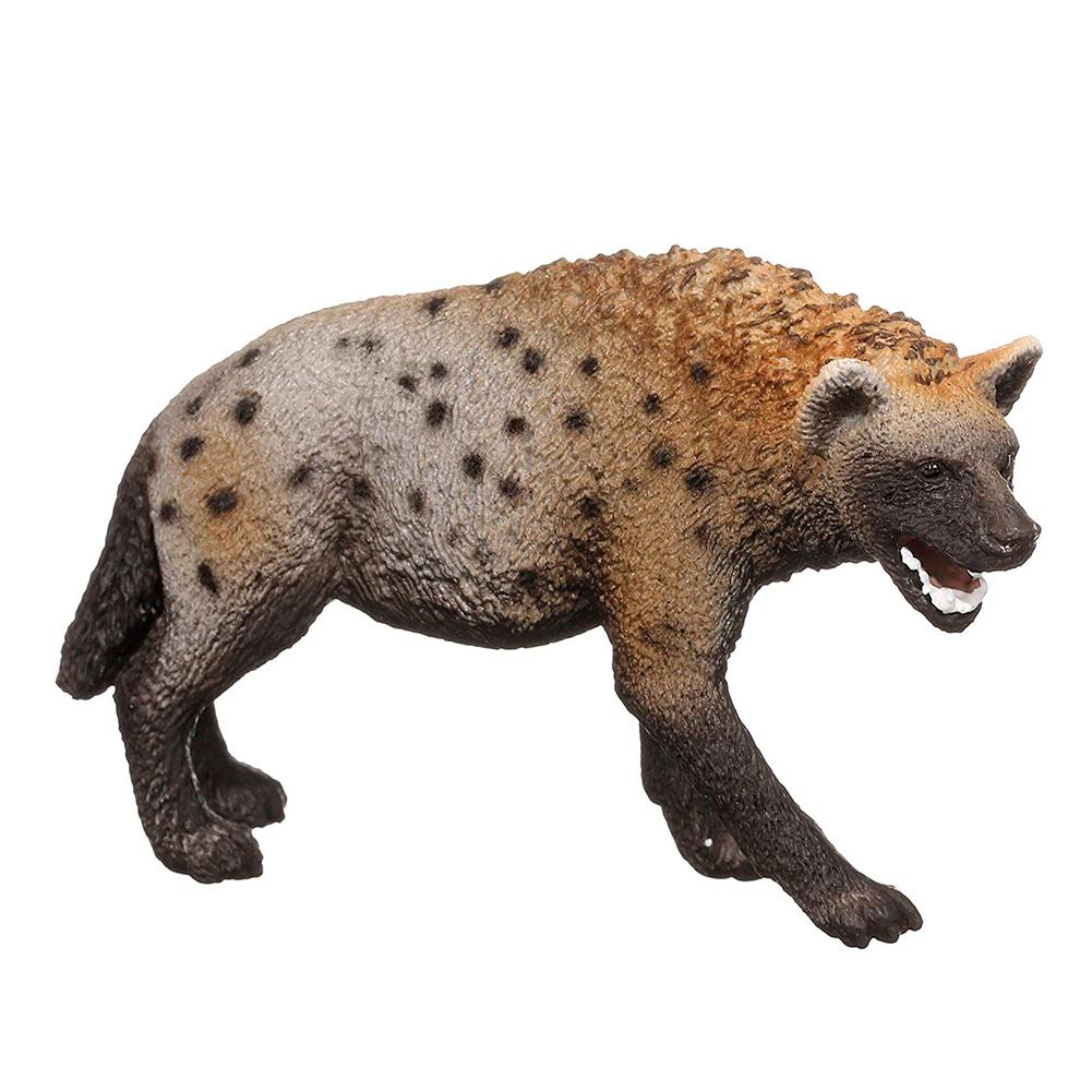 8.5cm Wild Animal PVC Hyena Model Collectible Figures Kids Preschool Toys Children Educational Gift