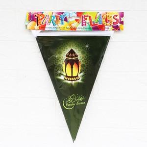 Image 4 - Рамадан, Kareem украшения, Eid, Мубарак, печатный баннер, гирлянда, мусульманские Вечерние украшения для дома, Eid, аль Фитр, Рамадан, Мубарак, Декор