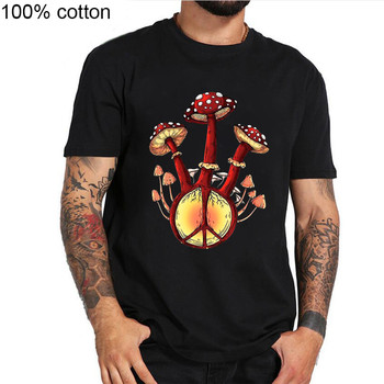 Hippie Eats Mushrooms See The Universe T Shirt Black Cotton Men S-3XLCartoon t shirt men Unisex New Fashion tshirt free shipping