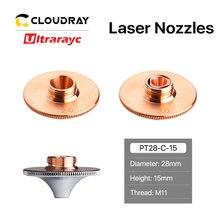 Ultraayc dysze laserowe pojedyncze podwójne chromowane warstwy D28 kaliber 0.8-4.0mm do cięcia włókien metalowych głowicy Conusmables