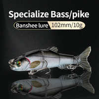 Banshee 102mm 10g Sinking Wobblers Fishing Lure 5 Segments Hard Bait Artificial Multi Jointed Swimbait For Pike/Bass Crankbaits