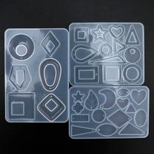 1 pieza pendientes colgantes de silicona conjuntos de colgantes decorativos molde hecho a mano moldes de silicona y epoxi moldes de resina epoxi fabricación artesanal