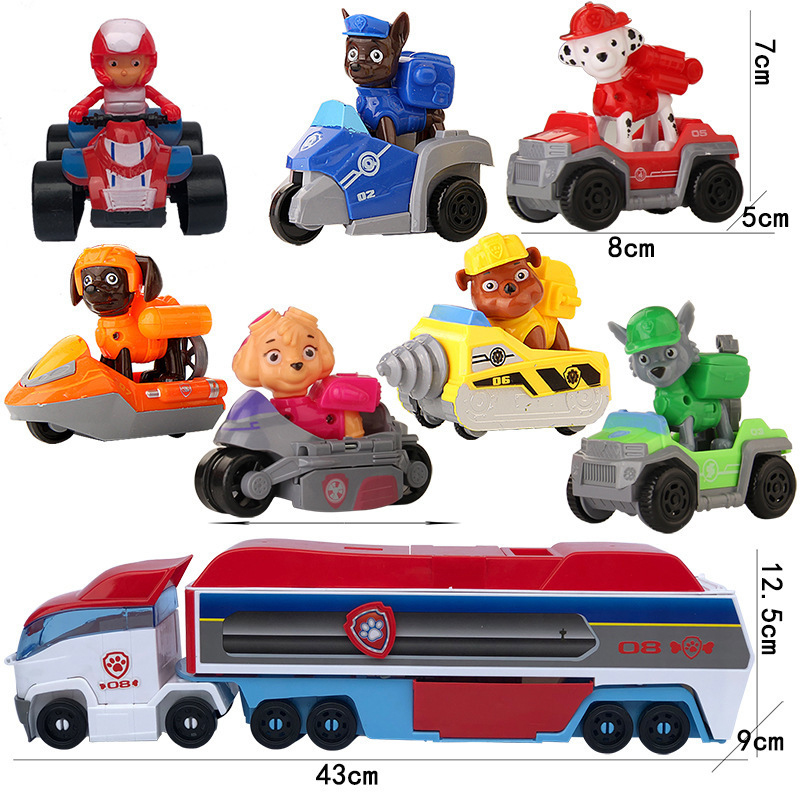 Paw Patrol Dog Patrol Car Action Figure Toys Mobile Rescue Bus Puppy Dog Patrol Car For Children Birthday Christmas Gift Bus Toy