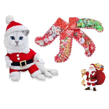 1PC 2020 Pet Doy Cat Toy Christmas Set Interactive Funny Mimi Home Pet Toys Product Plush Game Gift Cute Plush Cat Toys image