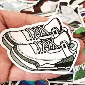 100 шт./упак. смешанные Мультяшные наклейки на кроссовки для ноутбука граффити водонепроницаемые наклейки на велосипед багажная коробка обувь