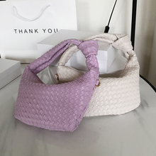 New pu Leather Underarm Bags 2020 New Handbag Clutch Women Trendy Solid Color Weaving Clouds Shoulder Bag Small Sac A Main Tote