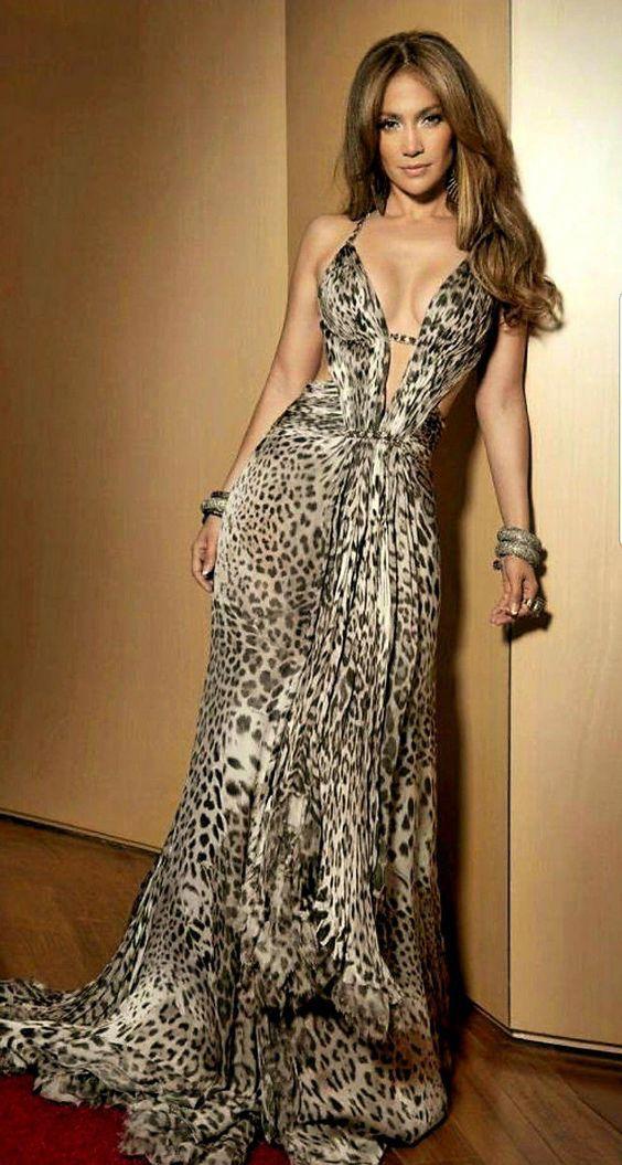 woman dressed in tiger print dress 2