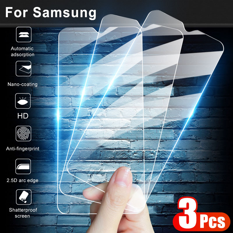 3Pcs Full Protective <font><b>Glass</b></font> For <font><b>Samsung</b></font> galaxy A01 A11 A21 A31 A41 A51 A71 <font><b>A10</b></font> A30 A50 A70 <font><b>Tempered</b></font> <font><b>Glass</b></font> Screen Protector Film image