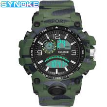 Męskie zegarki cyfrowe zegarki męskie LED męskie zegarki wojskowe zegarki na rękę męskie 50M wodoodporny zegarek sportowy Relogio Masculino 2020 tanie tanio SYNOKE Z tworzywa sztucznego CN (pochodzenie) 24cm 3Bar Cyfrowy Klamra ROUND 22mm 16mm Hardlex Stoper Podświetlenie Odporny na wstrząsy