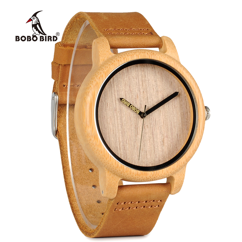 BOBO BIRD Men Watch Wooden Bamboo Wristwatch With Leather Band Sport Quartz Watches in Box Custom logo Drop ship|wristwatch mens|wristwatch band|wristwatch band mens - title=