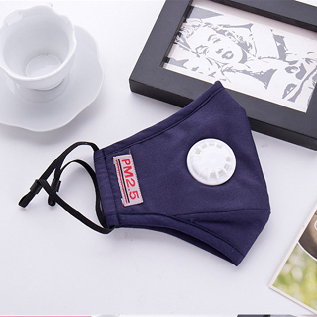 Cotton PM2.5 mouth Mask Anti Haze Anti-dust Mask Activated Carbon Filter Respirator bacteria proof Flu Face masks Muffle 2