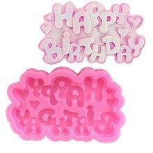 Silicone Molds Decorating-Tools Chocolate Letter Fondant Cake Sugarcraft Happy-Birthday-Shape