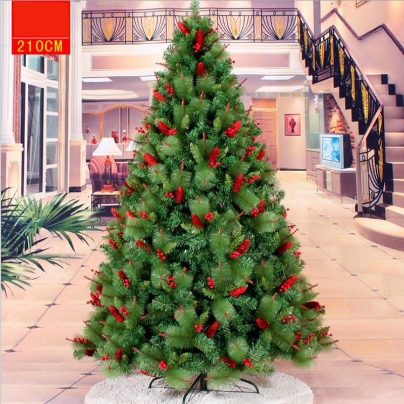 Yeddo Spruce Artificial Christmas Tree PVC Leaf Decorate Ornament 4ft -13 Ft