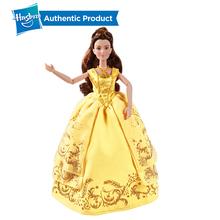 лучшая цена Hasbro  Princess Beauty and the Beast Enchanting Ball Gown Belle Action Figure Anime Collection Figurine Toys Girl Gift