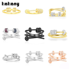 KAKANY Stylish Glamour Replica Of High quality Original Charms, Triple High end Ring With Slip Ring, For Womens Monaco Jewelry
