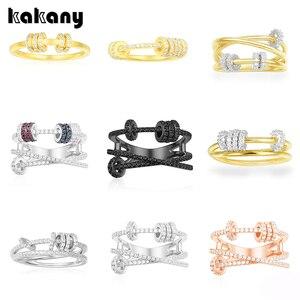 Image 1 - KAKANY הזוהר מסוגנן העתק של גבוהה איכות מקורי קסמי, לשלושה גבוהה סוף טבעת עם טבעת להחליק, עבור נשים של מונקו תכשיטים
