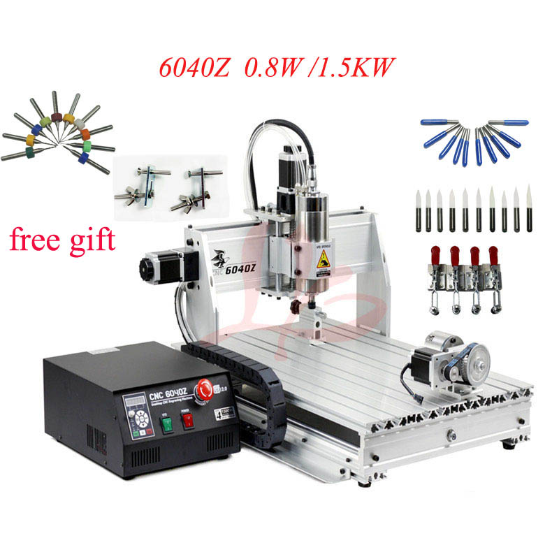 6040 3axis /4axis CNC Router Engraving Cutting And Milling Machine For Metal PCB 800W/1500W