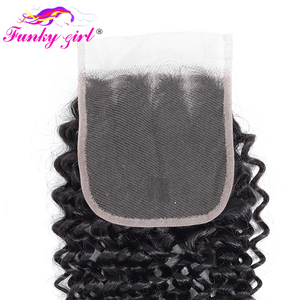 Image 5 - פאנקי ילדה מלזיה קינקי מתולתל שיער 3 או 4 חבילות עם סגירת חלק חינם שיער טבעי Weave חבילות עם סגר ללא  רמי שיער