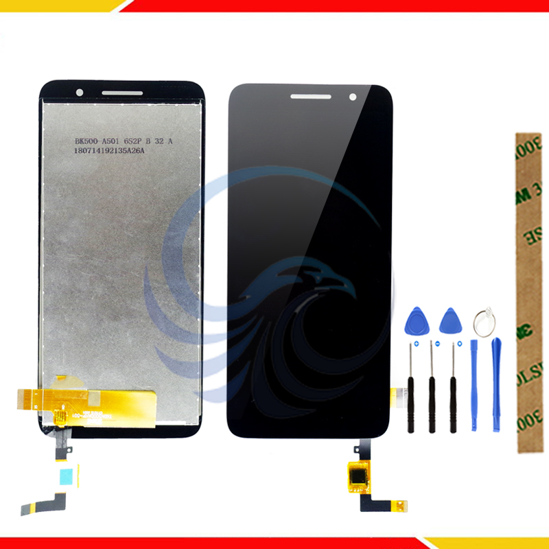 Tested LCD Display Screen for Alcatel 1 5033 OT5033 5033D 5033Y LCD Display With Touch Screen Complete assembly