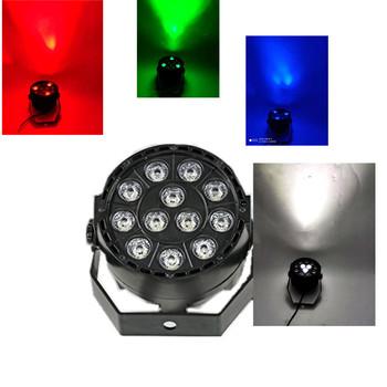 MINI kontroler DMX dioda LED RGBW światło sceniczne płaskie Par może kontrola dźwięku DJ efekt sceniczny światło strona główna Disco Club światła dj-skie tanie i dobre opinie CN (pochodzenie) Stage lighting effect Dmx etap światła 36 w 90-240 V Profesjonalne stage dj