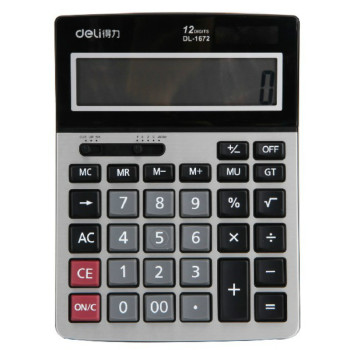 Aaa Solar Batteries | Dual Power Business Desktop Calculator 12 Digits Large Screen Plastic Button Desktop Computer Calculadora Stationery Gift