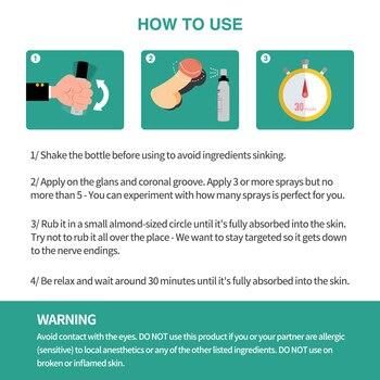30ML+5ML Sex Delay Spray for Men Non-Numbing Male Delay Ejaculation Sex Spray Man Prolong Sprays Penis Premature Ejaculation 5