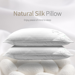 Neck Pillows Mulberry / Natural Silk Single Pillow 100% Orthopedic Hotel Memory Pillow for Health Sleeping Standard Size 45X78