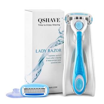 Многоразовый бритвенный станок QSHAVE IT Lady с 5 лезвиями 1
