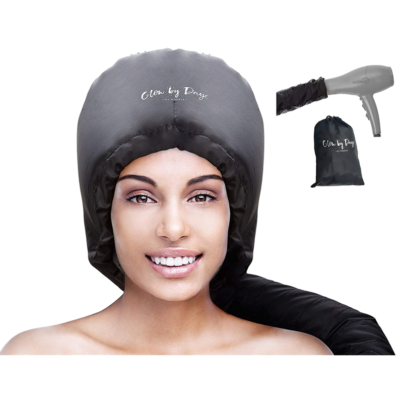 Hood Hair Dryer Attachment- Soft, Adjustable Extra Large Hooded Bonnet For Hand Held Hair Dryer With Stretchable Grip And Extend