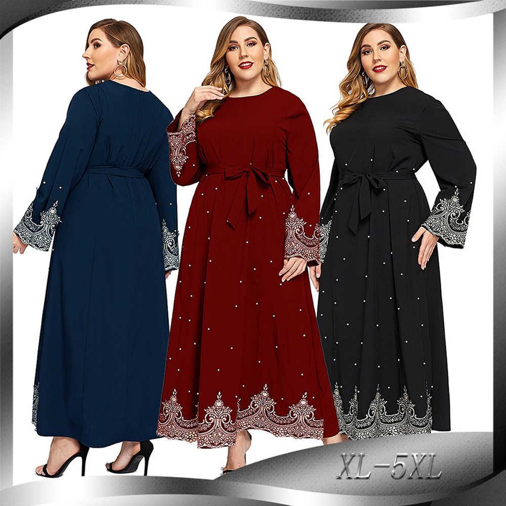 Ramadan Dubai Abaya Hijab Muslimischen Maxi Kleid Türkische