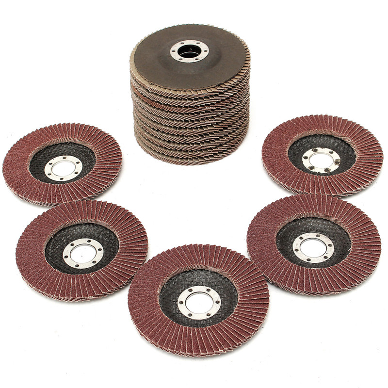 15Pcs/Set Flap Discs 115mm Sanding Discs Discs Angle Grinder Jewerly 40 60 80 Grit Grinding Wheels Polishing Tools