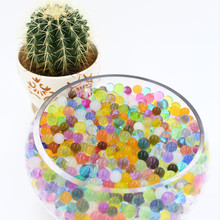 500pcs/ 5bag Crystal soil potted multicolor crystal beads gel ball polymer hydrogel crystal beads growth magic jelly wedding
