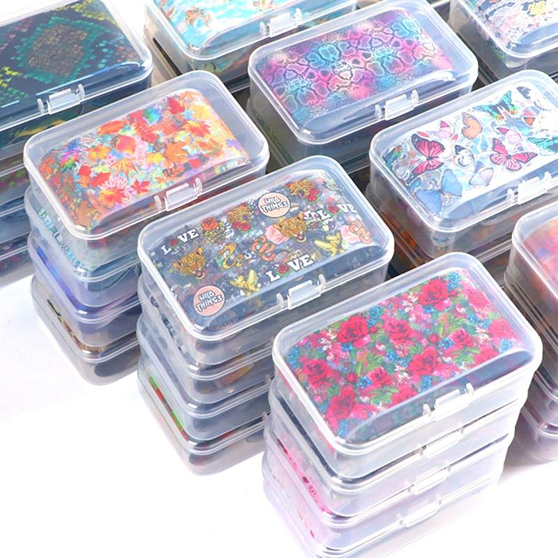 Nail Art Transfer Foil Sticker Set Nail Butterfly Decals Adhesive Wraps Decoration Nails Paper Manicure DIY Tips Designer foils