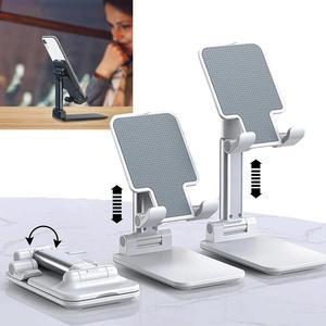 Ergonomiczny składany regulowany metalowy uchwyt na biurko uchwyt na Tablet składany stojak na telefon komórkowy stojak na telefon komórkowy