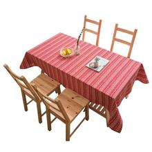 2019 Country Style Plaid Print Table Cover Cotton Table Cloth Striped Rectangle Table Cover Tablecloth Home Kitchen Decoration simanfei linen table cloth country style plaid print stylish rectangle table cover tablecloth home kitchen decoration