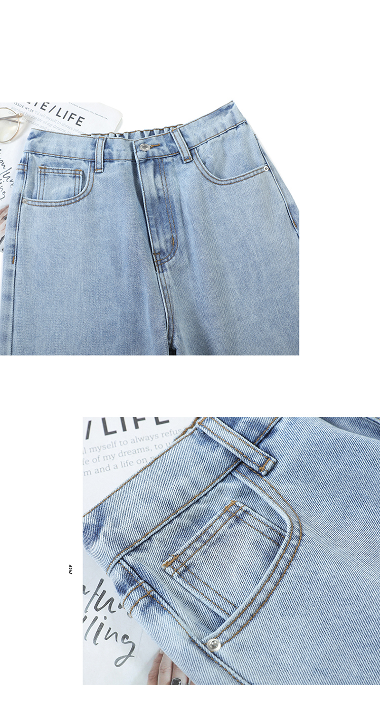 high waist jeans woman plus size street style elastic waist denim pants Cotton Loose Coated Vintage Washed boyfriend jeans 2020