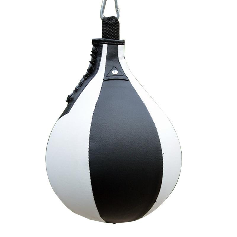 MJL Speed Ball Boxing Leather Training Punching Hanging Workout Speedball Poires de Vitesse de Boxe Sac de Boxe en Cuir Balle Frappe Punching Ball Boxe
